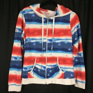 🎱Juicy Couture Stars & Stripes Zippered Hoodie